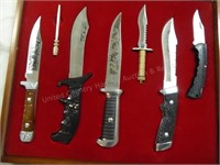 Knives set with case