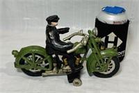 Cast Iron Motorcycle, Harley Davidson on Wheels