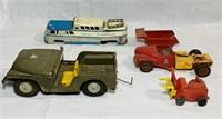 Japan made time Army Jeep, Geyhound Scenicruiser,