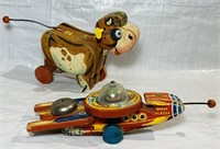 2 Fisher Price Pull Toys, Space Blazer 750,