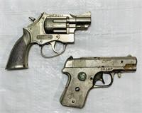 2 Hubley Cap Guns, Trooper and Champ, Both work