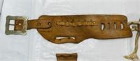 Vintage Leather Kids Cap Gun Belt and Holster,