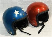 2 Vintage Sparkle Helmets, insides are dirty