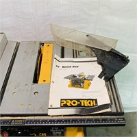 "Pro-Tech 10"" Bench Saw, new blade, Works"
