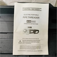 Electric Portable Pipe Threader