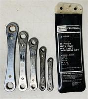 5 Piece Craftsman Ratchet Wrench Set