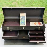 Kennedy 8 drawer plus top Toolbox w/key, nice box