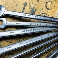 9 Proto Professional Wrenches, 7/16 - 1 1/16,