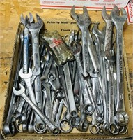 """12""""x12"""" box full of Craftsman,Duracraft Wrenches"""