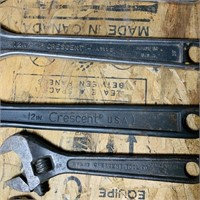 7 Adjustable Wrenches, 3 are Crescent