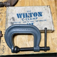 4 C Clamps, Wilton 402 NEW, 2 Armstrong 404