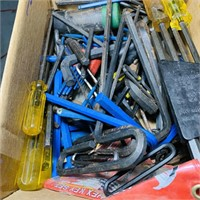 Box Full Of Allen Wrenches etc