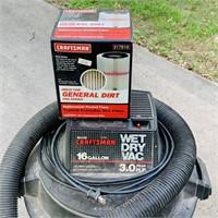 Craftsman 16 gallon 3 hp Shop vac