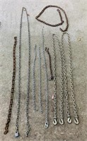 9 Various Chains, 2 are 10 footers