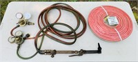 Victor Torch with Guages, Plus NEW 50 ft hose