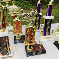 14 Motorcycle Trophies, all local