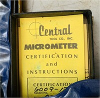 4 Central Tool Micrometers, 3 others