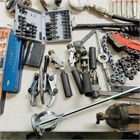 Lot of Tools, Rigid Wrench, Bolt Cutters