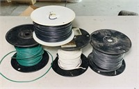 3 Rolls of 12 guage Wire, 1 roll of Dog Boundry