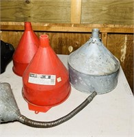 Various Funnels, Oil Changing pan