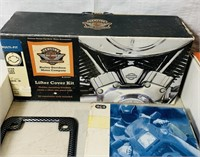 Motorcycle Lot, Backrest w/Hardware, HD Mirrors,