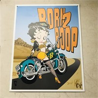 "2 Betty Boop tin signs12"" x 16"" and 11"" x 16"""