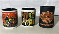 1 Harley-Davidson Stein ,3 HD Coffee Mugs