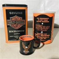 Coffee Tins  1 empty/1 full,1 tiny Coffee Mug