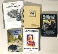 3 Motorcycle Books 1 unused Motorcycle Journal