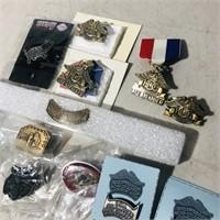 14 Assorted Pins HOG/Commemorative Ride