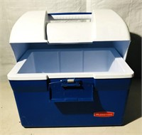 1 Blue Rubbermaid Cooler  1 Pacifica Rolling