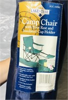 -Camp chair with foot rest  -Chicago Cutlery BBQ