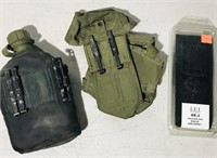 1 GPS Holster,1 Army Holster ,1 Plastic Canteen
