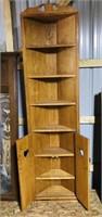 "Corner Shelf Cabinet  6'5"" High x 21"""