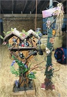"Decorated  Bird house 3'4"""