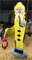 "Wooden Fisherman Decoration  4'10"""