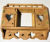 Wooden Decor: Wall Hanging Shelf: 15x18""