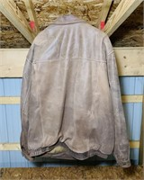 Croft & Barrow Brown Leather Jacket, XLT