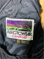 Arctic Wear Leather Insulated Bibs, XL