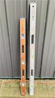 """2 Wood Levels, Port Austin Level 41.5"""", RICK 4 ft"""