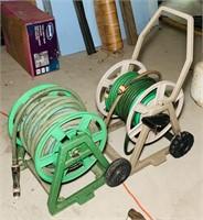 2 hose Reels w/ hoses