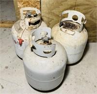 3, 20# Propane Tanks, 2 have some in them