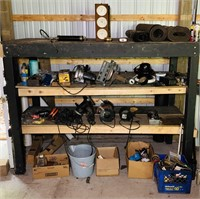 Contents of shelves, all tools are NOT Tested