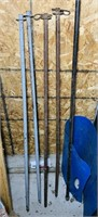 (4) 4ft Solid Steel Rods, one black pipe
