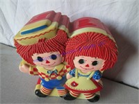 1977 RAGGEDY ANN & ANDY TALKING BANK,