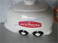 ARCHWAY-TRAIN  COOKIE JARS