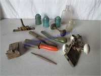 GLASS INSULATORS, TOOLS, WEDGE