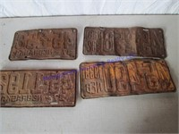 1930'S LICENSE PLATES