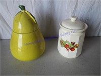 PAIR OF COOKIE JARS