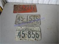 1940-50'S LICENSE PLATES